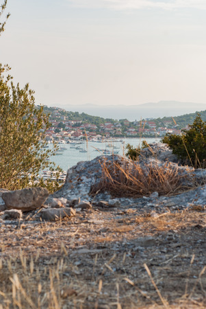 murter: Photo of Murter. Beautiful city in Dalmatia, Croatia