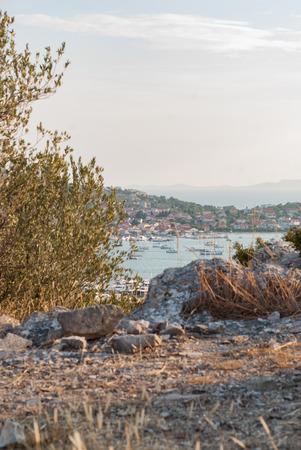 murter: Photo of Murter. Beautiful city in Dalmatia, Croatia