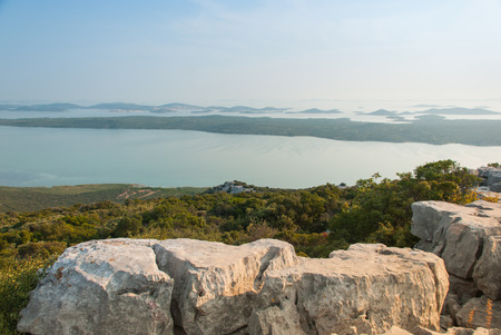 kornati: Photo of Vransko Lake and Kornati Islands. View from Kamenjak hill.