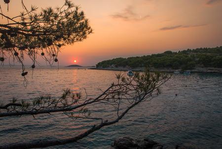 murter: Photo of sunset over Kornati Islands, Murter, Croatia
