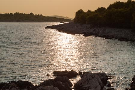 kornati national park: Photo of sunset over Kornati Islands, Murter, Croatia