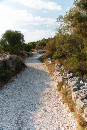 murter: Photo of Stone path in Murter, Dalmatia, Croatia