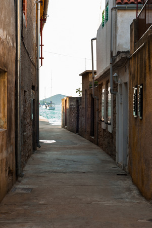murter: Photo of old street in Murter, Dalmatia, Croatia