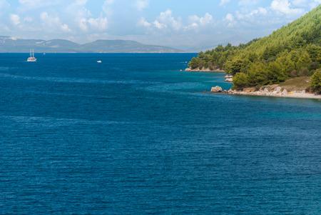 croatian: Photo of Croatian beach, Makarska Riviera, Dalmatia