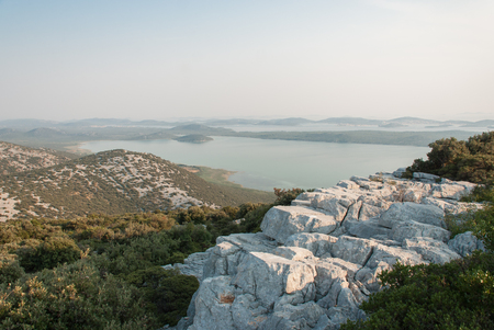 kornati: Photo of Vransko Lake and Kornati Islands. View from Kamenjak hill.
