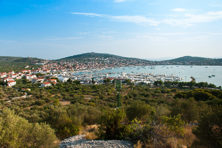 murter: Aerial view of Murter, Island Murter, Dalmatia, Croatia Stock Photo