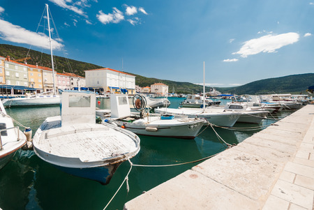 Photo of boats  docks in the harbour Stock Photo