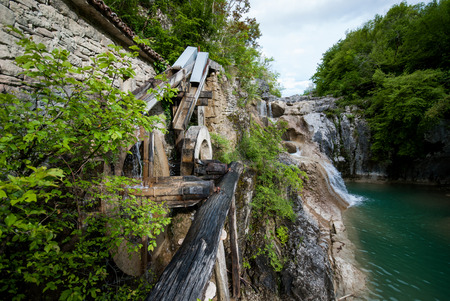 watermill: Photo of Old  water mill building on Mirna river, Kotli, Istra, Croatia Stock Photo
