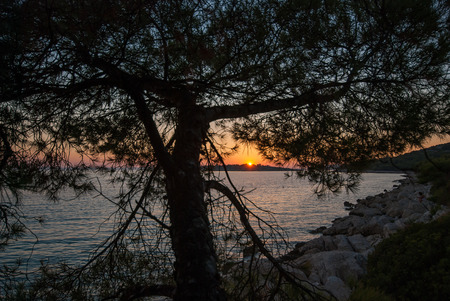 photo of Sunset over Kornati Islands, Croatia, Dalmatia. view from Murter.