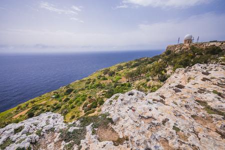 Photo of Radar station on Dingli Cliffs, Mediterranean Sea, Malta,