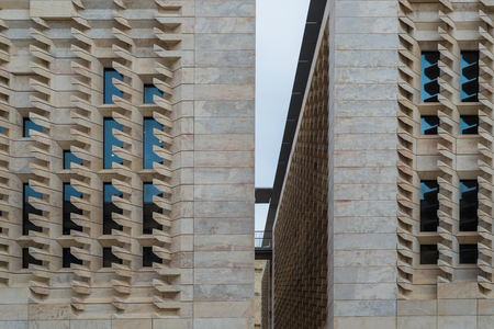 Photo of Modern Buildings of Parliament of Malta in Valletta City - Capitol of Malta