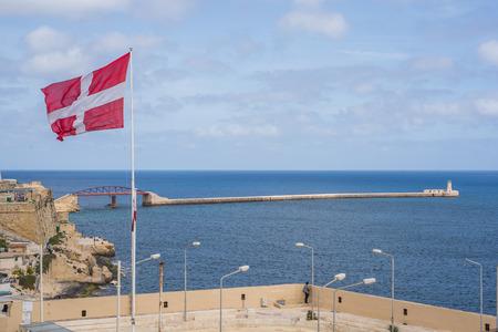 Photo of Mediterranean sea, view from Lower Barrakka Garden, Valletta, Malta Zdjęcie Seryjne