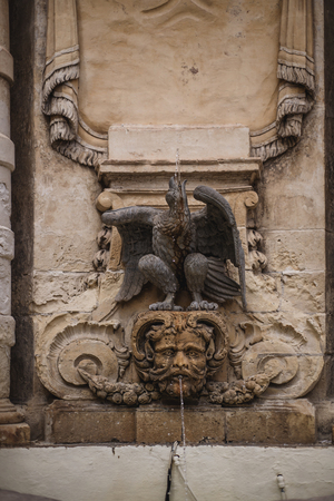 Photo of Fountain in front of the main guard building in St Georges Square, Valletta, Malta, Europe. Zdjęcie Seryjne