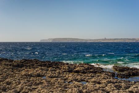 Photo of Sea water beating against rock, Cirkewwa, Malta Zdjęcie Seryjne