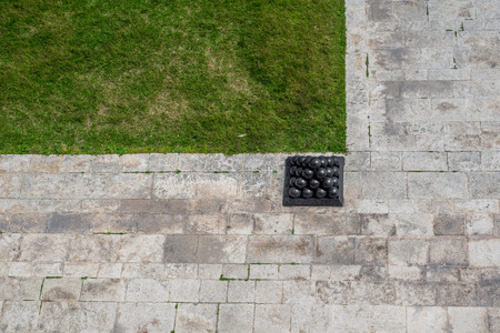 Photo of Cannonballs in Upper Barrakka Gardens, Valletta, Malta, Europe. Zdjęcie Seryjne