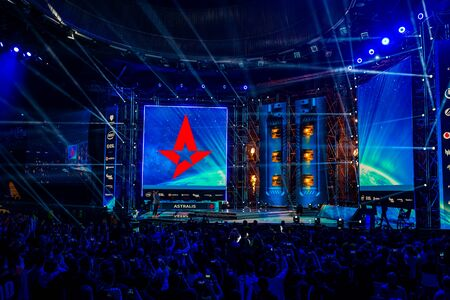 KATOWICE, POLAND - MARCH 3, 2019: Intel Extreme Masters 2019 - Electronic Sports World Cup on march 3, 2019 in Katowice, Silesia, Poland. IEM ESL Couter Strike Global Offensive final, ENCE vs ASTRALIS; esport Publikacyjne