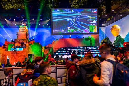 KATOWICE, POLAND - MARCH 3, 2019: Intel Extreme Masters 2019 - Electronic Sports World Cup on march 3, 2019 in Katowice, Silesia, Poland. IEM ESL