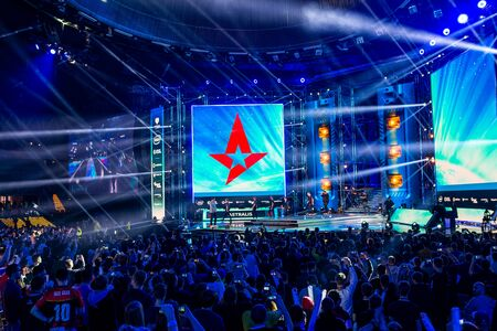 KATOWICE, POLAND - MARCH 3, 2019: Intel Extreme Masters 2019 - Electronic Sports World Cup on march 3, 2019 in Katowice, Silesia, Poland. IEM ESL Couter Strike Global Offensive final, ENCE vs ASTRALIS; esport