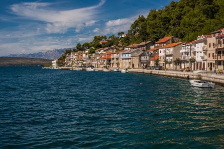 Photo of Novigrad city, Dalmatia, Croatia. City on Adriatic coastline.