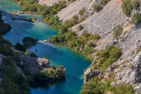 Photo of Zrmanja canyon, River zrmanja in Zadar county, Dalmatia, Croatia