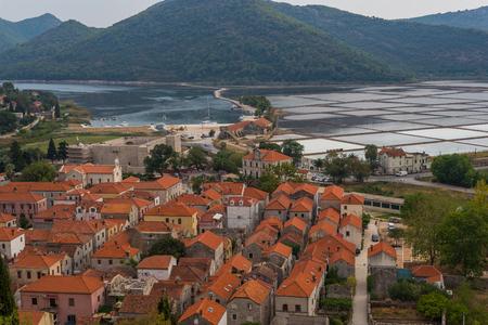 Photo of Ston town and its salt pans, Peljesac Peninsula, Dalmatia, Croatia