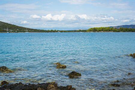 Photo of Beautiful, idyllic, sunny summer seascape. Murter, Croatia, Dalmatia, Europe.