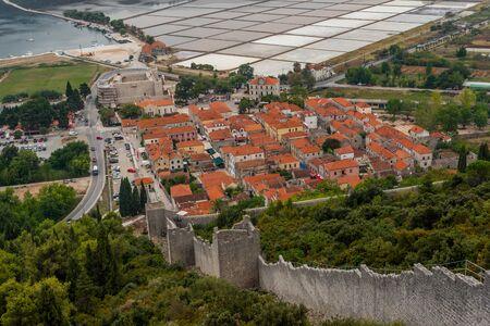 Photo of famous ancient medieval city walls and fortification in Ston, Dalmatia, Croatia, Peljesac peninsula Zdjęcie Seryjne