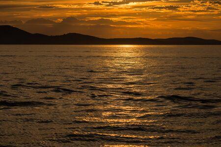 Photo of dramatic sunset in Zadar, Dalmatia, Croatia