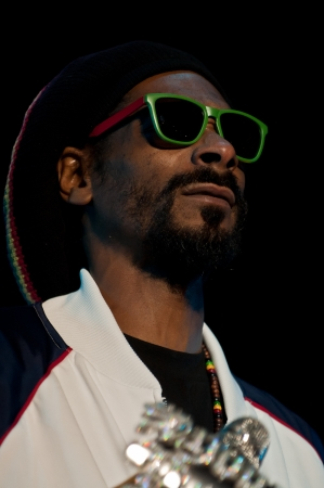 snoop: Portrait of Snoop Dogg  Snoop Lion  on stage Editorial