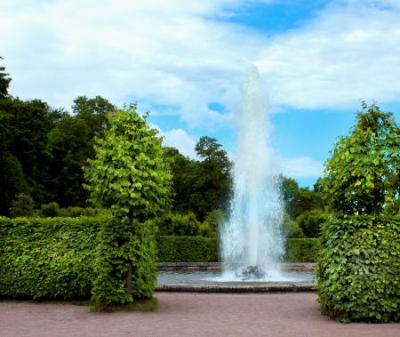 peterhof: Fountain in Peterhof  St  Petersburg  Russia