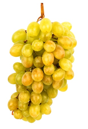 seedless:  Seedless grapes isolated on white background