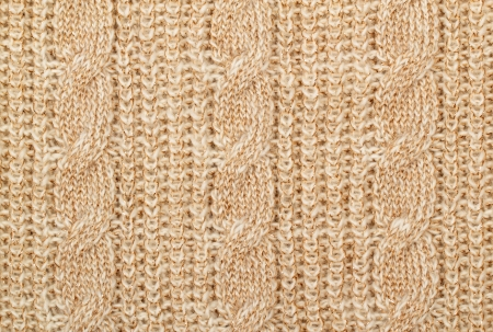 Fabric beige knit woolen material with lurex photo