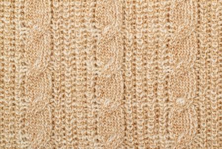 lurex: Fabric beige knit woolen material with lurex Stock Photo