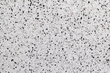 Closeup View Of White Natural Marble Chip Plaster Surface Stock Photo