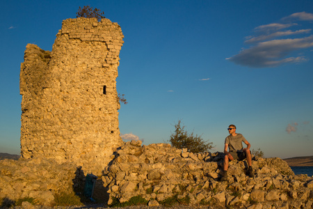 Old medieval fort Vecka kula tower in Croatia Banque d'images