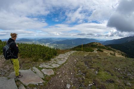 Path to Babia Gora Mountain, Mount Babia in Slovak Republic