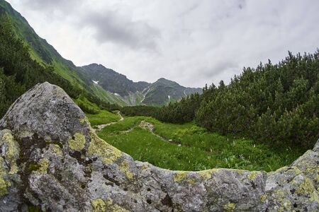 West High Tatras Mountains, Slovakia in Summer with cloudy sky