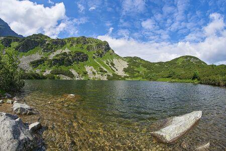 Lake Rohacske plesa, West High Tatras Mountains, Slovakia in Summer
