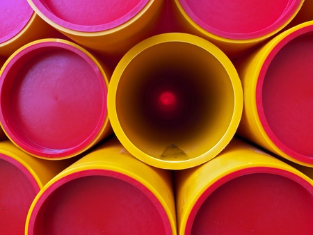 red, yellow pipes