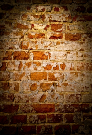 Texture was created from a photograph of the old cracked brick wall photo