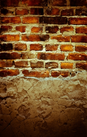 hollow wall: Texture was created from a photograph of the old cracked brick wall with stone pit