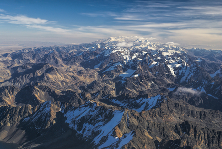 Scenic view from the top of Huayna Potosi mountain in Bolivia photo