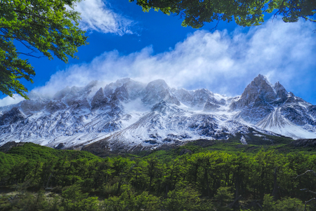 los glaciares: Picturesque panorama of Los Glaciares national park in Argentina