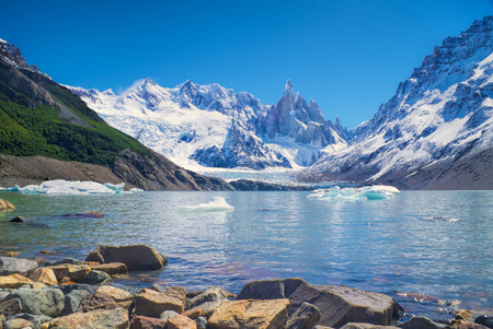 Panoramic view of a lake in Los Glaciares National Park photo