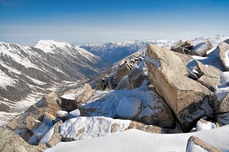 kackar: A rocky slope covered in snow in Kackar Mountains, Turkey