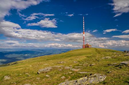 ova: Panoramic view of radio mast on Kráľova hoľa mountain in Low Tatras