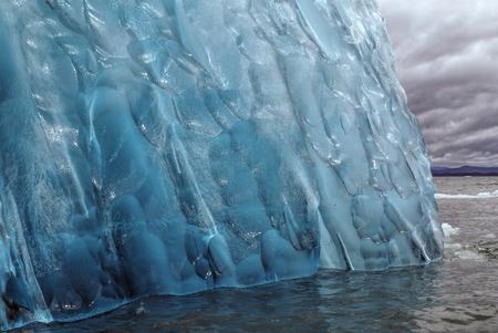 san rafael: Icy pattern in a close-up view of a glacier in Laguna San Rafael in Chile