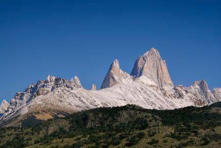 los glaciares: Close-up vista di magnifiche pareti rocciose nel Parco Nazionale Los Glaciares Archivio Fotografico
