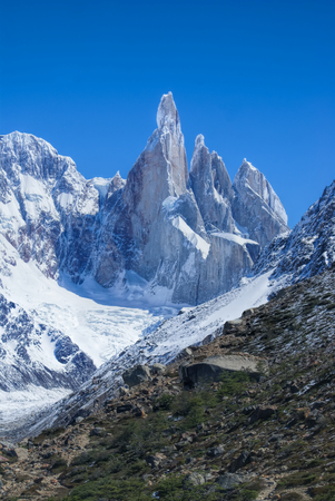 los glaciares: Breathtaking view of high mountains in Los Glaciares National Park