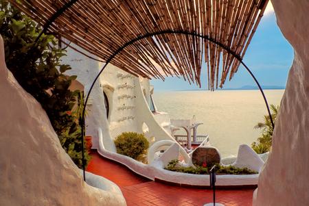carlos: Picturesque view of the terrace in Casa Pueblo de Carlos Paez Villaro in Uruguay
